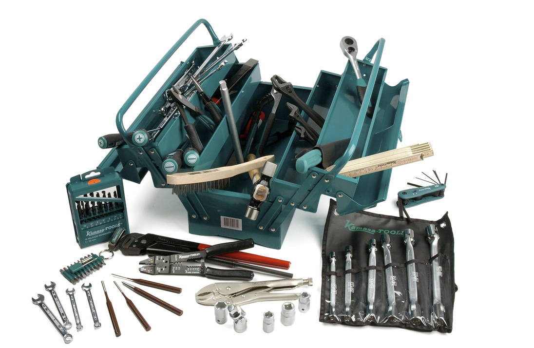 Værktøj i kasse, 98 dele